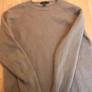 Tan J Crew Classic Wool Crewneck size medium